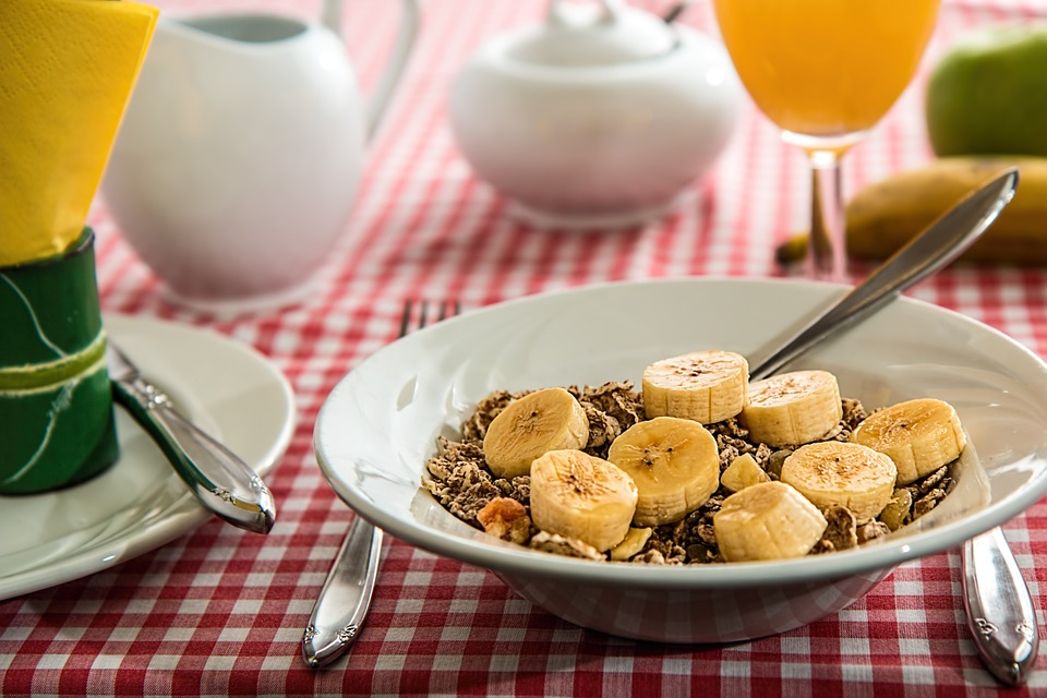 Banane au petit déjeuner